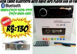 Som Carro Player Usb Bluetooth
