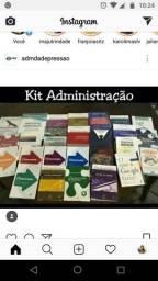 Kit livro admistração com 24 livros