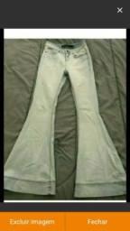 Calça jeans flare/boca de sino 34/36