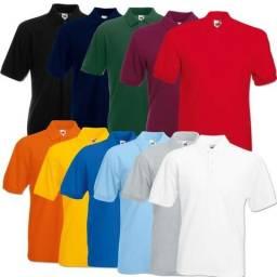 Uniformes kit com 10 camisas bordadas com a sua logo ou marca