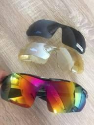 801e6d7e73253 Óculos De Ciclismo Corrida Preto 03 Lentes + Armação P grau