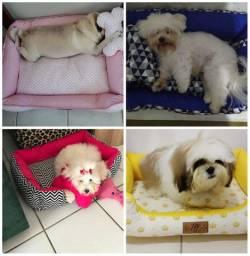 Cama Pet Dupla Face, Preenchimentos removível para limpeza, tamanhos grandes cães e gatos