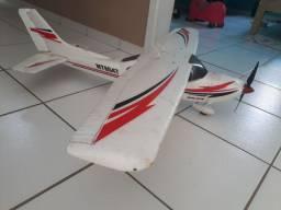 Aeromodelo cessna escala envergadura de 1,20 rádio 9xr módulo fr sky