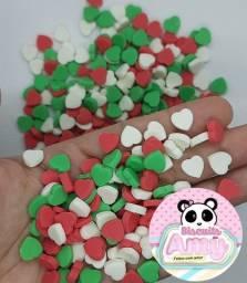 Confeitos coração biscuit mini corações