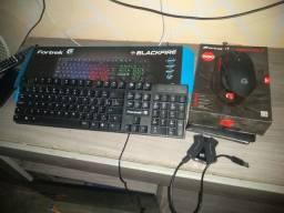 Vendo Teclado . Mouse gamer , e adaptador Eris Redragon pouco usado