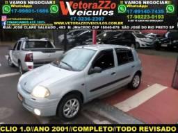Renault clio hatch 2001 1.0 rt 16v gasolina 4p manual