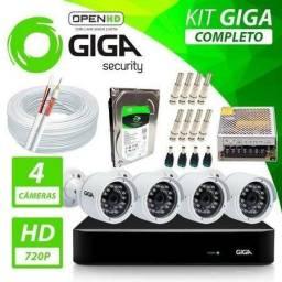 Kit 4 câmeras HD 720p com Dvr Instalado em até 6X sem juros