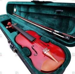 Violino com maleta Michel, estante partitura pasta e espaleira.