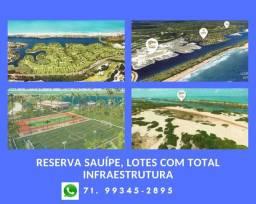 Reserva Sauípe, lotes próximos à praia, total infraestrutura. preços e condições especiais