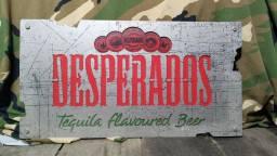 Placa Stilo caixa propaganda de cerveja desperados