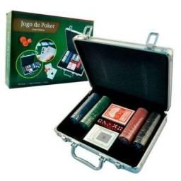 Jogo de poker com maleta