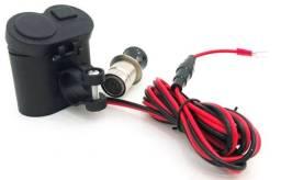 Adaptador Tomada USB Carregador Para Motos Celular GPS