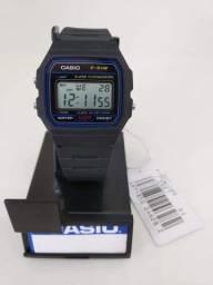 Relógio Casio f 91 série prata original