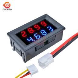 Mini Amperimetro com Voltimetro para bateria