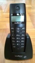 Telefone Sem Fio Intelbras (TS 40 ID) preto com Identificador de Chamadas