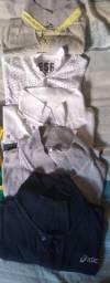 Camisetas polos originais tamanho P ( Calvin Klein Colcci, Asics) - as 4 peças R$ 120,00
