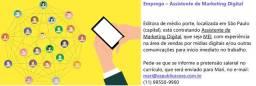 Vaga de trabalho - Assistente de Marketing Digital