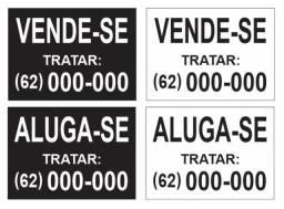 """Placas de """"Vende-se"""" ou """"Aluga-se"""" em ACM - r$ 45,00"""