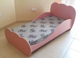 Título do anúncio: Mini Cama Infantil Nuvem Rosa Multimóveis Com Colchão