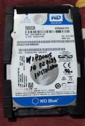 Hd Sata 500 GB Wester Digital para Notebook  com Windows 10 32 bits Ativado