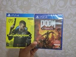 Cyberpunk 2077 e Doom Eternal ps4 lacrado
