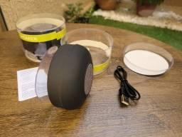 Caixinha de Som Bluetooth com Ventosa
