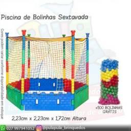 Título do anúncio: Piscina de bolinhas Sextavada - Acompanha 500 bolinhas Grátis - A pronta Entrega