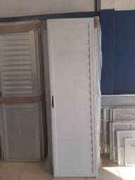 Porta Veneziana em alumínio Branco