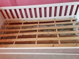 Cama de solteiro + cama auxiliar + colchão de solteiro