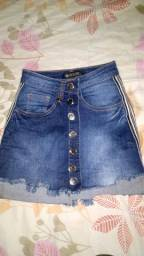 Saia jeans escuro