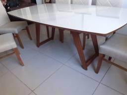 Título do anúncio: Mesa nova completa de madeira maciça