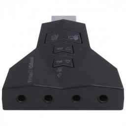 Título do anúncio: adaptador placa de som usb 4 portas p2 - compativel com ps3 - a4pusbm