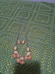 Conjunto de colar e par de brincos novos nunca usados