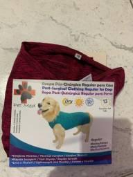 Roupa pós cirúrgica para cães