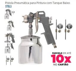 Título do anúncio: Pistolade Pintura copo 1Litro de inox com 3 Bicos
