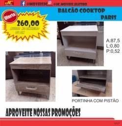 Título do anúncio: BALCÃO PARIS E COOKTOP SAFANELLI 4 BOCAS PROMOÇÃO