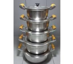 Título do anúncio: Jogo de panela de alumínio batido 5 peças