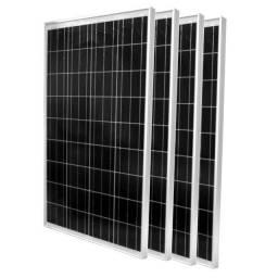 Painel Solar 100w com suporte na caixa novo