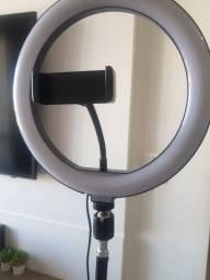 Ring Light com suporte Celular