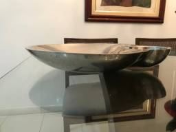 saladeira em aço inoxidável