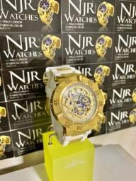 Relógio Invicta subaqua noma III branco banhado