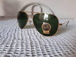 Óculos de Sol Ray-Ban Aviator 1937 Clássica G-15 + Ouro