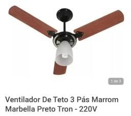 Ventilador de teto 3 pás marrom Marbella Tron 220v