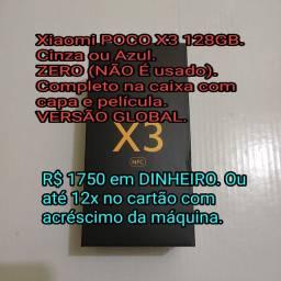 Xiaomi POCO X3 128GB ZERO E COMPLETO NA CAIXA COM CAPA E PELÍCULA