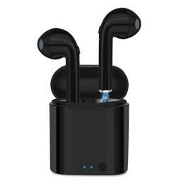 Fone de Ouvido i7s Sem Fio Bluetooth 5.0 Preto