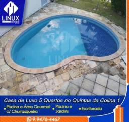 Vendo Casa com 05 quartos no Condomínio Quintas Da Colina 1 em Caruaru/PE.