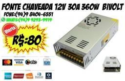 Fonte Chaveada 12v 30a 360w Bivolt