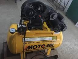 Compresor 10 pés 100 litros - 2 Hp