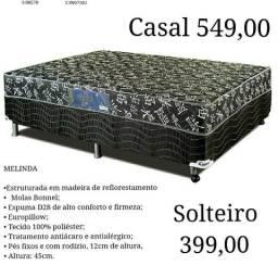Cama box com molas 399,00 frete gratis zap 996133714