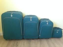 Conjunto de malas de viagem com frasqueira